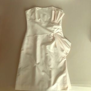 BCBG cream peach dress